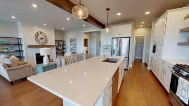 StanfordC 3rdBayGarage kitchen living room